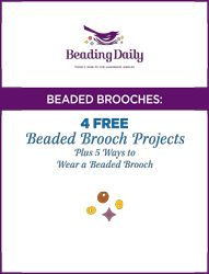 Of all the styles of beaded jewelry I make, beaded brooches used to come last on my list of preferred beading projects. But no more! After looking at the gorgeous free beaded brooch projects we've chosen for our latest free eBook, I'm inspired to start making more of these beauties to accent my wardrobe. Brooches…
