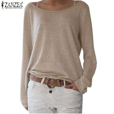 Shop now http://a-sheek-boutique.myshopify.com/products/zanzea-t-shirt-women-2017-new-spring-casual-o-neck-long-sleeve-cotton-t-shirts-tops-solid-color-loose-knitted-blusas?utm_campaign=social_autopilot&utm_source=pin&utm_medium=pin A Sheek boutique new products.