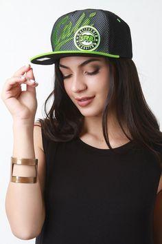 Mesh Overlay Cali Snapback Cap