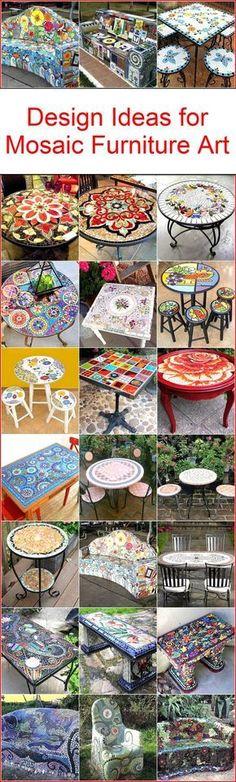 Design Ideas for Mosaic Furniture Art