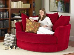 I'm getting one of these when I can afford real furniture. reading paradise! and it swivels too.