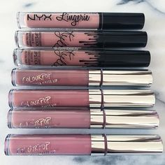 NYX, Lip Kit by Kylie & Colour Pop Cosmetic Nude Liquid Lipsticks @slave2beauty ♡♥♡♥♡♥