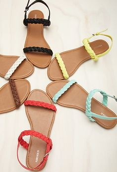Braided Faux Leather Slingback Sandals | Forever 21 - 2000114931