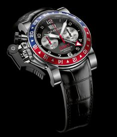 Graham - Chronofighter Oversize GMT Blue & Red