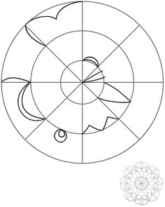 How To Create Mandalas, from Dover Publications; page 9 of 9 excerpts, with elements given for each sector - good practice for kids  #doodle