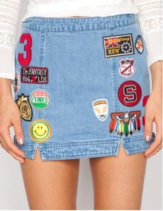 DIY Patch Jeans  - MarieClaire.com