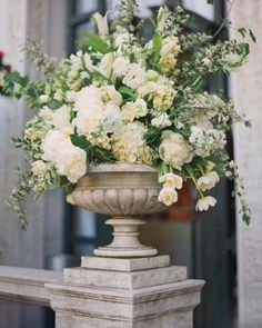 Beautiful flowers in an urn