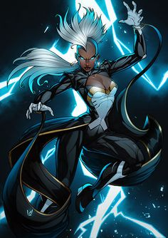 Storm Xmen, Álvaro Jiménez on ArtStation at… Marvel Comics Art, Marvel Vs, Marvel Heroes, Rogue Comics, Storm Xmen, Storm Marvel, Marvel Girls, Comics Girls, Univers Marvel