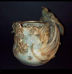 Amphora Planter with Bird