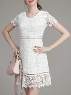 Shop White V Neck Crochet Hollow Out Dress online. SheIn offers White V Neck Crochet Hollow Out Dress & more to fit your fashionable needs.