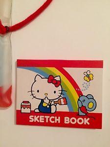 25b827e1e Vintage Hello Kitty Sketch Book And Color Pencils, Sanrio 1984, NEW! | eBay