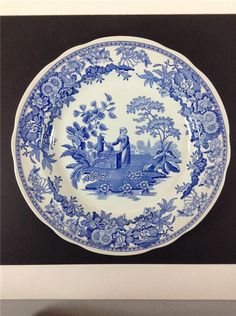 "Spode Blue Room Girl at the Well Plate 10.25"" Made in England #Spode"