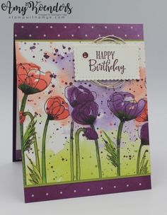 Stampin' Up! Peaceful Moments for Sunday Stamps - - I used the Stampin' Up! Peaceful Moments stamp set and a little of the pretty Peaceful Poppies DSP from the upcoming January-June 2020 Mini Catalog to create a Christmas card for the Sunday Stamps …. Masculine Birthday Cards, Happy Birthday Cards, Masculine Cards, Happpy Birthday, Poppy Cards, Fun Fold Cards, Stamping Up Cards, Rubber Stamping, Some Cards