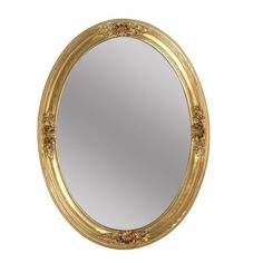 Oval Gilded Beveled Mirror