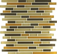 I absolutely adore this tile: it's a cleaner look than the sumi-e tiles, but has the colors I like. I also love the form factor (stone and pewter accents -Tomei Fiddlesticks Goldenrod silk) Backsplash, Pewter, Tiles, Colorful, Stone, Kitchen, Tin, Room Tiles, Rock