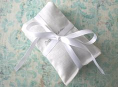 Wedding Favors Lavender Sachets White Bridal by CariJoyDesigns