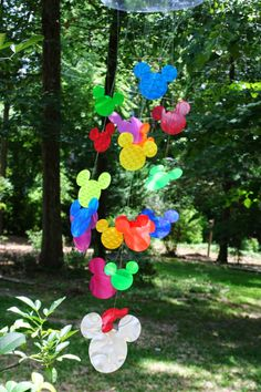 Tami's Craft Connection- Mickey Mouse bright rainbow windsock / mobile made from Rowlux Illusion Film