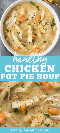 Healthy Chicken Pot Pie, Healthy Soup Recipes, Chicken Soups, Soup Recipes With Chicken, Simple Soup Recipes, Chicken Soup Slow Cooker, Keto Chicken Soup, Healthy Food, Paleo Soup