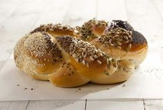 Seed lovers, this is your loaf. Poppy, sesame, pumpkin, sunflower and nigella seeds top a round handmade challah on separate sections of the bread, making it easy to share (and sample) different varieties in one loaf. Pre-ordering is encouraged but only necessary if including a ceramic dipping bowl. $9.95/$18 with bowl http://breadsbakery.com