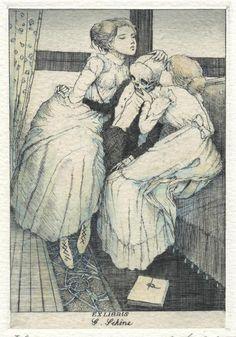 "foxesinbreeches: "" Ex libris by Alphonse Inoue """