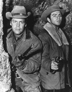 Doug McClure and Fabian in ''The Virginian'' episode ''Say Goodbye to All That''  1963