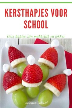 Op zoek naar inspiratie voor lekkere en makkelijke kersthapjes voor school? Mag je weer aan de bak voor de kerstlunch of het kerstdiner op school? In dit blog geven we je een paar leuke, lekkere en gezonde kersthapjes Easy Peasy, Fruit Salad, Strawberry, Food, Fruit Salads, Strawberry Fruit, Meals, Strawberries, Yemek