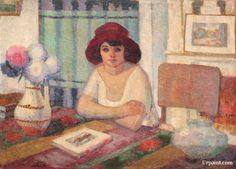 Young Woman in Interior