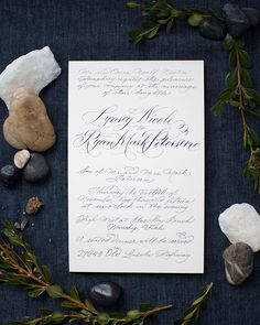 Oh So Beautiful Paper: Classic Hand Calligraphed Wedding Invitations
