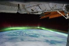 Aurora Borealis from space...
