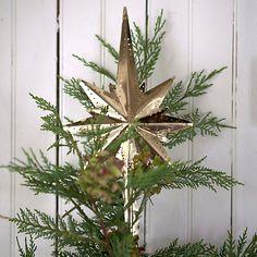 Brass Star Tree Topper