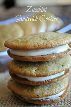 Zucchini Sandwich Cookies with Cream Cheese Filling | mountainmamacooks.com