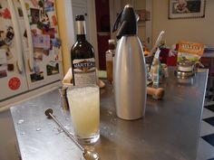 Absinthe Frappe  2/3 Absinthe,  1/6 Syrup of Anisette, double quantity of water.  Shake up long enough until the outside of the shaker is thoroughly covered with ice. Strain into a small tumbler.