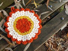 Free vintage rose potholder crochet pattern