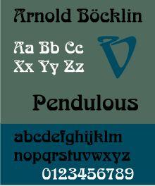 Schriftbeispiel für Arnold Böcklin