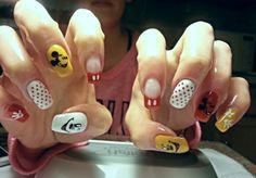 by tina #nails #notd #nailart #stamping #nailpro #mickymouse