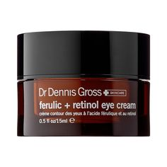 Two supercharged anti-aging ingredients—retinol and ferulic acid—work together to tighten skin and increase its density, making it more resistant to external stressors. Dr. Dennis Gross Ferulic + Retinol Eye Cream, $68; sephora.com
