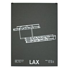 Jerome Daksiewicz of NOMO Design has created a series of screenprinted posters featuring airport runways. He's already created LAX, ORD, MSP, JFK, ATL and SFO, with more coming soon.
