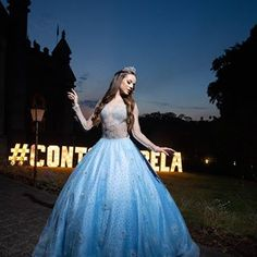 Já tô com saudades de ontem 💙 - - - 15th Birthday, Ball Gowns, Youtubers, Instagram, Formal Dresses, Party, 15 Years, Laptops, Computers