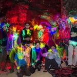 Light Painting Photos of Rock Climbers Wearing Glow Sticks