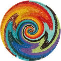 African Basket - Zulu Wire - Shallow Bowl #47200
