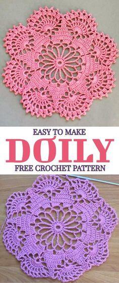 Easy To Make Doily Free Crochet Pattern - Yarnandhooks
