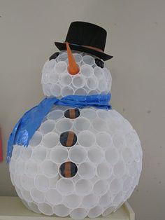 Snow man DIY