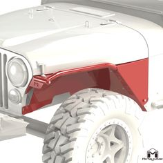 The MetalCloak CJ Overline Jeep Flat Tube Fender brings traditional looks together with Xtreme Clearance. No Other Flat Tube Fender is as strong or gains as much clearance with NO BODY MODIFICATION! Cj Jeep, Jeep Mods, Jeep Cj7, Jeep Rubicon, Jeep Fenders, Ss Bolts, Jeep Wrangler Accessories, Motorcycle Wheels, 4 Wheelers