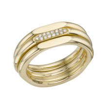 20/20 Classic 18ct Gold Ring With Diamond