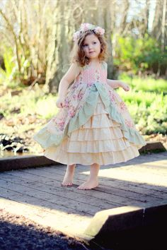Tea Party/Princess Dress - sizes 6 mths  to 12 mths- Custom order (dress only, blouse addtional) on Etsy, $68.00