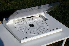 Bang & Olufsen BeoGram 6500 turntable in white.