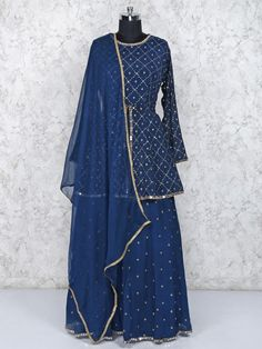Western Outfits For Women, Suits For Women, Clothes For Women, Indian Fashion Dresses, Pakistani Dresses, Straight Cut Dress, Blue Lehenga, Salwar Designs, Beautiful Blonde Girl