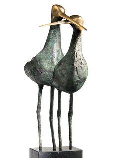 Afbeeldingsresultaat voor bronzen beeld vogel