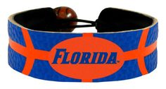 Florida Gators Florida Wordmark Logo Team Color Basketball Bracelet Z157-7731400537