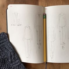 Fashionary sketchbook — NEW! at Fringe Supply Co. \ I would love one of these with a child's figure for doll planning!
